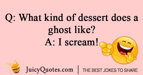 What kind of dessert does ghost  like