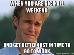 When You Are Sick