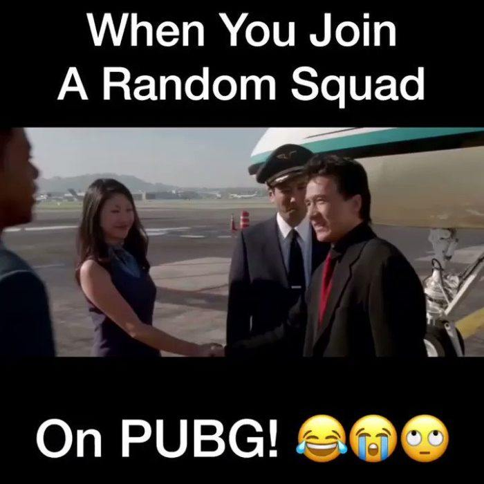 When You Join A Random Squad