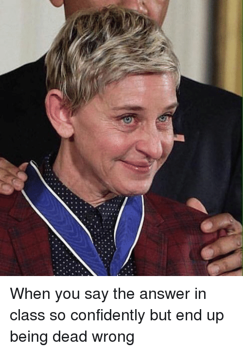 When You Say The Answer