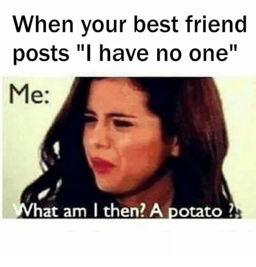 When Your Best Friend Posts