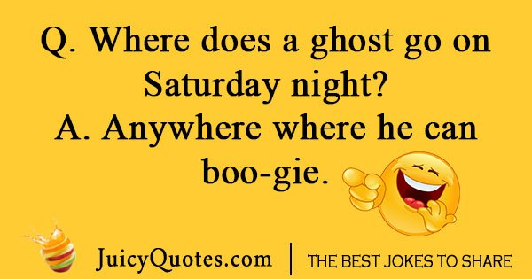Where does a ghost go on saturday night