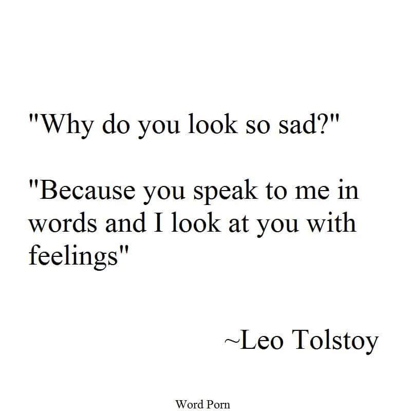 Why Do You Look So Sad