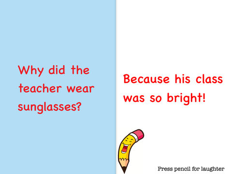 Why did the teacher wear