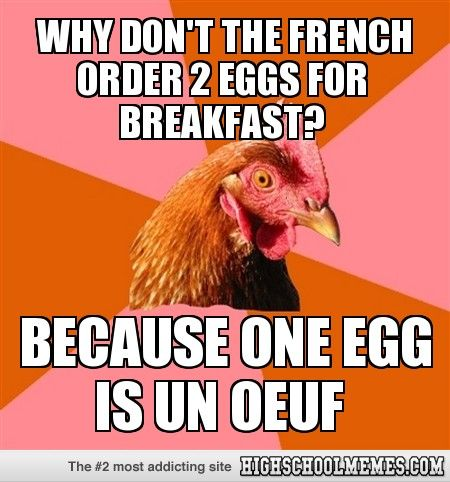 Why dont the french