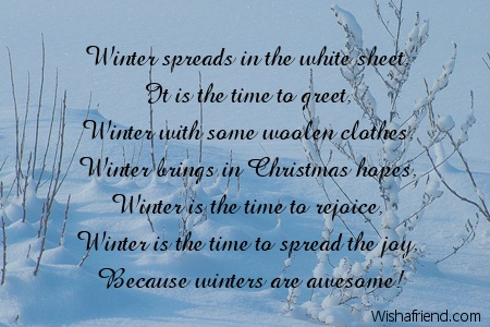 Winter Spreads In The White Sheet