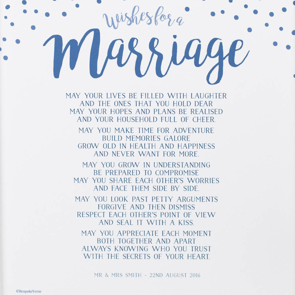 Wishes for a Marriage