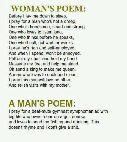 Woman's Poem, A Man's Poem