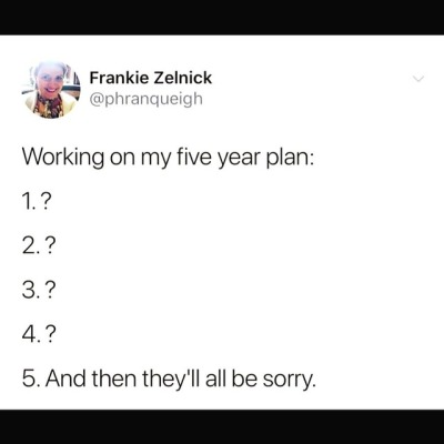Working On My Five Year Plan