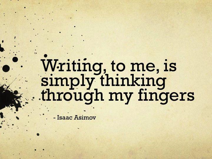 Writing To Me