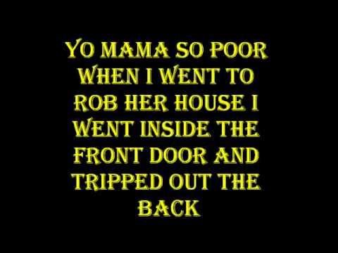 Yo Mama So Poor