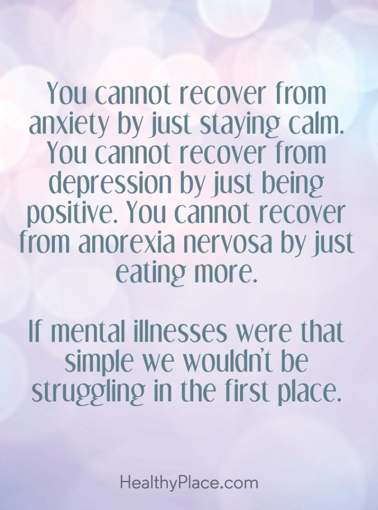 You Cannot Recover From Anxiety