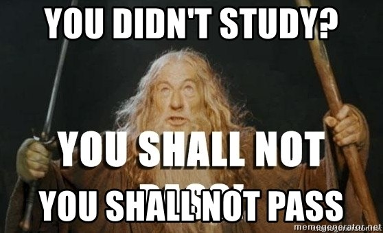 You Didn't Study