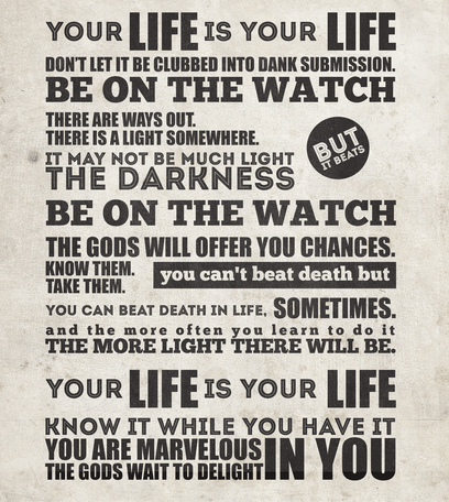 Your Life Is Your Life