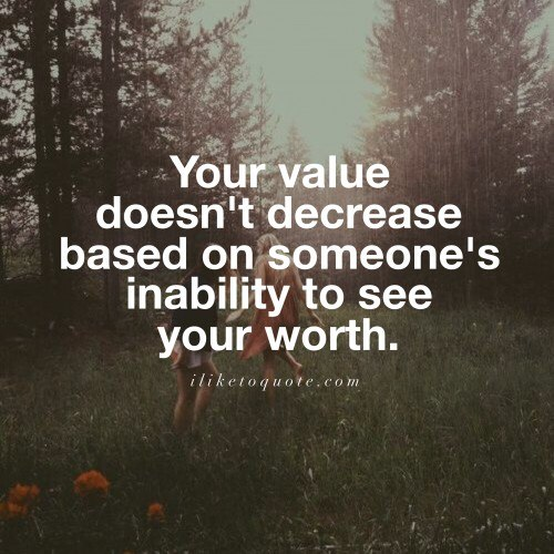 Your Value Doesn't Decrease