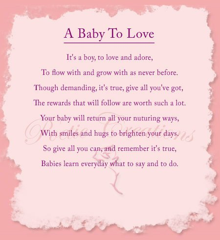 a baby to love